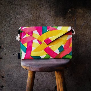 [Clutch / Shoulder Bag / envelope bag Dream Bag- painted bright color pen hit the color section]