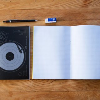 Vinyl Turntable Notebook x1 Into - Texture Cool Black