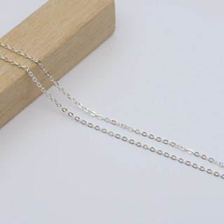 925 sterling silver necklace single chain with adjustable chain (fine chain) 16吋40cm 18吋45cm