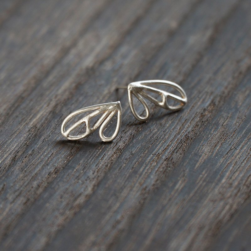 Love Leaf Elf's Little Wings / 925 Silver Earrings