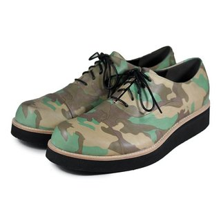 Wine Cup M1127 Camo Green leather sneakers