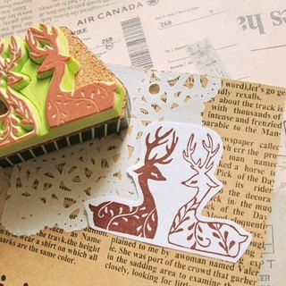Apu handmade chapter elegant sleep deer seal hand stamp