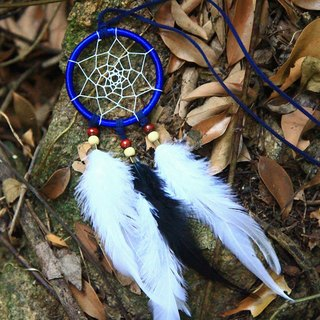 ESCA • DreamCatcher handmade Dreamcatcher - necklace (sapphire blue)