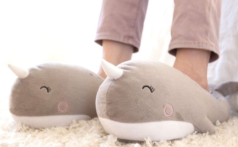 Narwhal USB warm slippers
