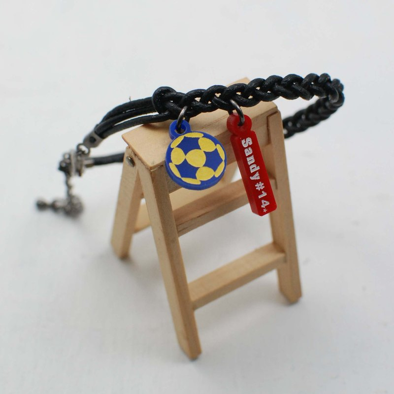 Korfball calfskin Bracelet + Small logo [school name or name + back number] graduation gift
