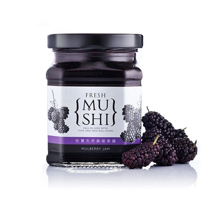 {Pastry natural selection} slightly sweet natural mulberry jam 100% pure fruit │ 250g