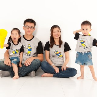 [Banana baseball team (little girl)] parent-child / children's clothing / short-sleeved T-shirt