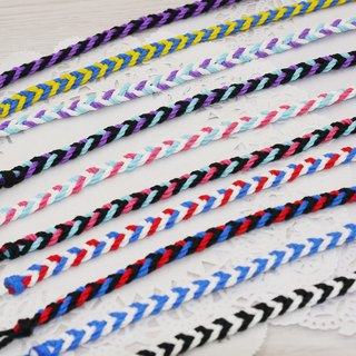 噗妃 - - pure hand-woven lucky bracelet surf foot ring foot rope R (cotton models)