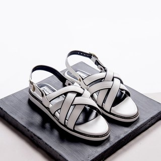 Gladiator Sandals shoes - Titanium white