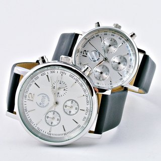 Classy Couple Chrono Watch (Silver)