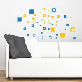 Smart Design Creative Seamless Wall Sticker Rectangular Blue (2 photos)