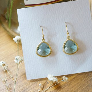 Edith & Jaz • Birthstone Collection - Grey Topaz (June) Earrings