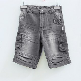 Small M light gray cotton denim shorts