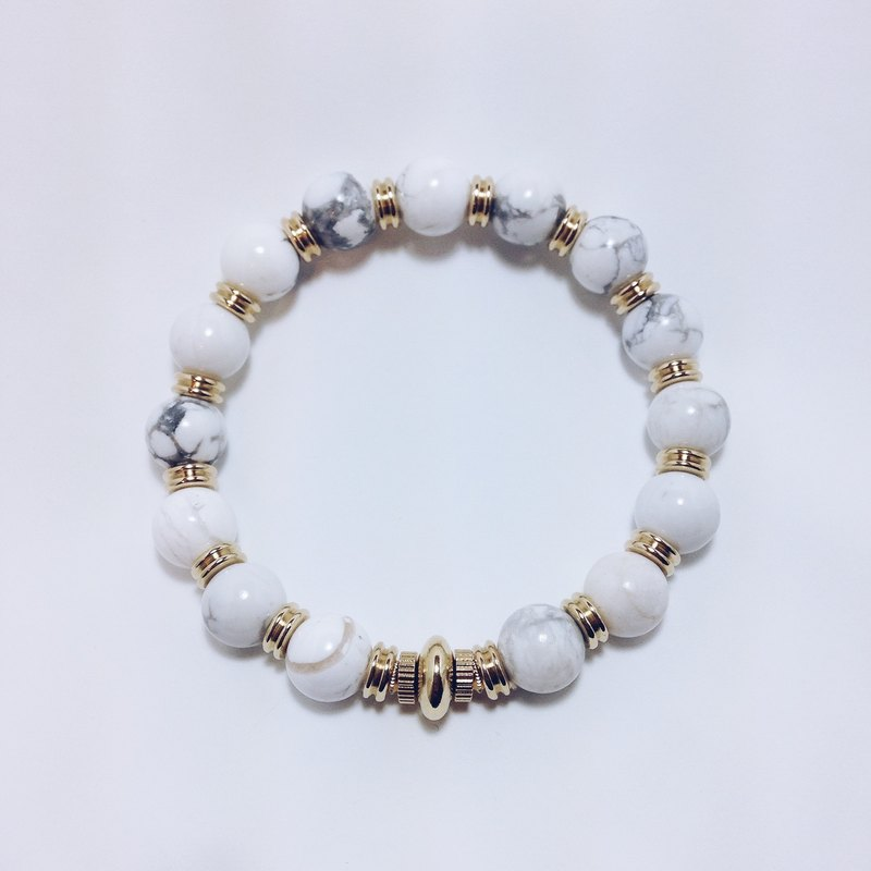 LOOPORIGINAL marble brass bracelet [Bean series of large pieces of the original stone]