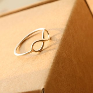 < ☞ HAND IN HAND ☜ > Silver - Infinity Ring (0657)