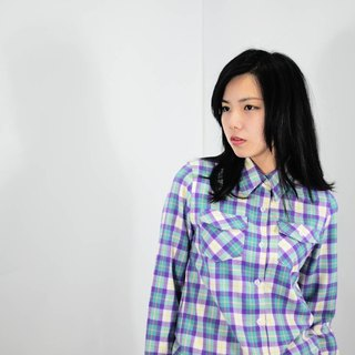 humming-格紋襯衫-Checked Shirt -HWS1318-01