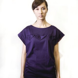 Origami morning glory Japanese jersey cotton knitted tops