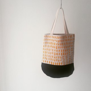 Moshimoshi | holiday small round bag - yellow square