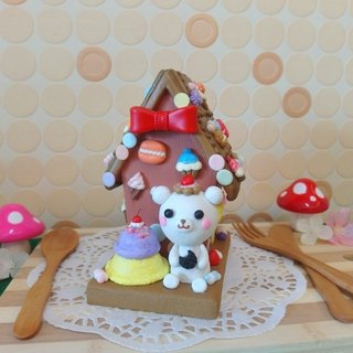 Clay piggy banks Gingerbread House Gift ‧ ‧ Bear ice cream Macaron cupcake bow