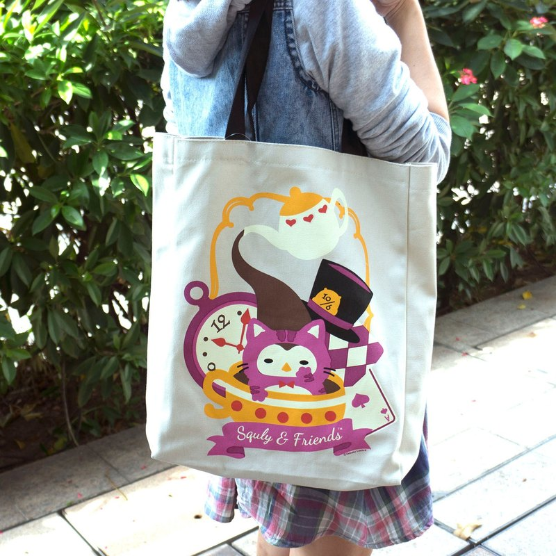 Owlly Canvas Tote Bag (Alice in Wonderland) - E020SQB