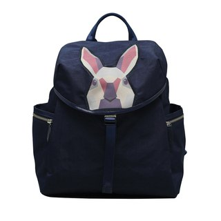 Khieng Atelier Diamond Rabbit Rabbit diamond flip cover Backpack - Blue Fashion