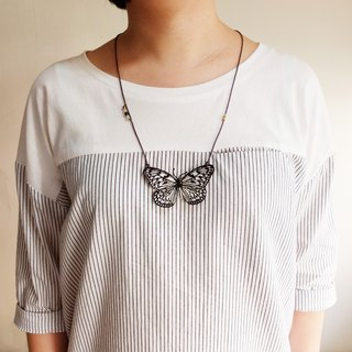 Embroidery Butterfly Necklace / Paper Kite Butterfly