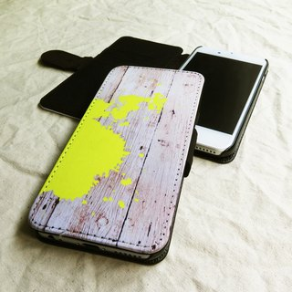 Neon Yellow, Ink Splash- - Designer,iPhone Wallet,Pattern iPhone wallet