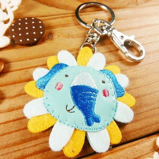 Embroidery key ring pen finger doll - Elephant