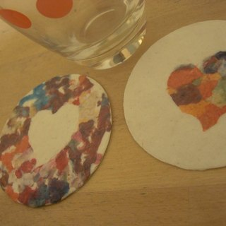 Elated paper coasters