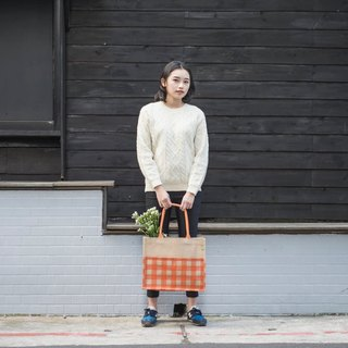 Checker Tote KK Jute Bag