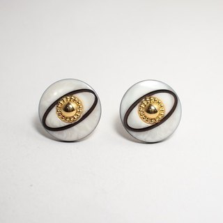 Circle dot Eye of the Universe Stainless Steel Earrings Ear Clip Earrings Earrings 284