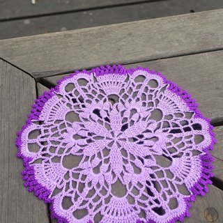 Hand made - rim color - lace pad