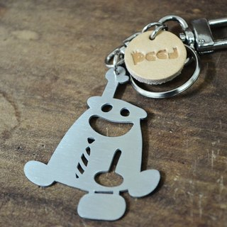 【Peej】'Five to Niner' Stainless Steel Keychain