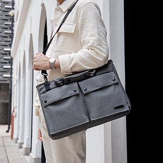 Briefcase Computer Bag Tote Bag Men's Business Bag Waterproof - Smasher Grey