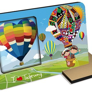 Taiwan Series ~ Taitung hot air balloon ~ 60 seconds Sound and light photo frames Photographic card postcard Festive wedding Small objects blessings Gifts recording Sightseeing