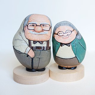 The Couple Grandparents Stone painting.