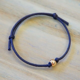 ITS-B818 [Minimal series, change] large hole steel ball / wax rope bracelet.