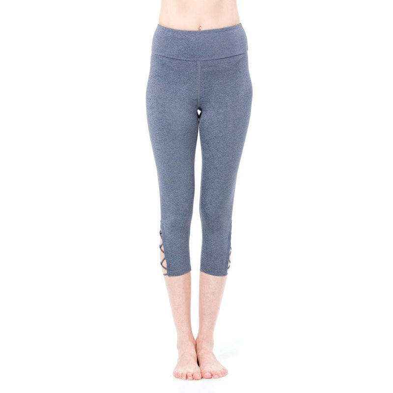 Sey Activewear X Cross Cropped Leggings Grey