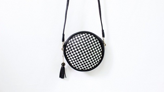 B/W | Circle | Cross Body / Clutch | Vintage Hand-weave Pattern