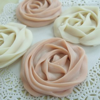 Flowers biscuits handmade soap - wedding small things, corporate gifts, travel small soap