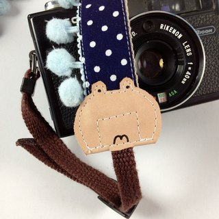 Hand-made monocular Class SLR camera strap decompression Camera back rope --- frog hair bulb section