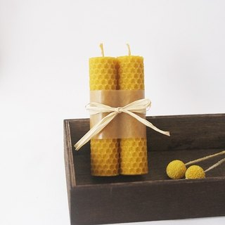 4th Floor Apartment - Felt Beeswax Candle - Gunpowder