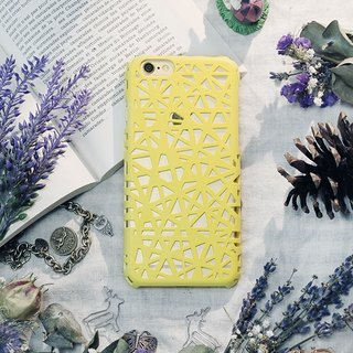 iPhone6 ​​Plus / Mobile Shell / Hard Shell / Ostrich Yellow / Gift / Weave
