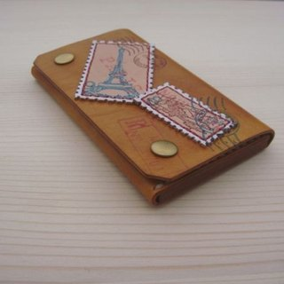 [ISSIS] [go to travel] travel stamp handmade leather business card holder - (3)