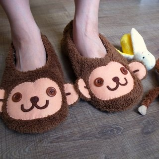 boboSARU Bobo monkey with a trip travel indoor cloth slippers (adult section)