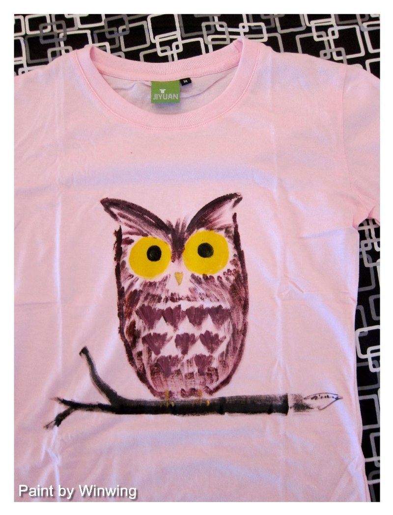 Hand-painted clothing owl mother -Winwing