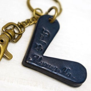 Valentine's Day [paragraph] simple letters leather key ring (available lettering)