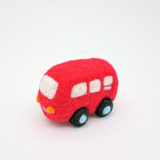 Wool felt small things - red car (which can be customized mobile phone strap, dust plugs, keychain)