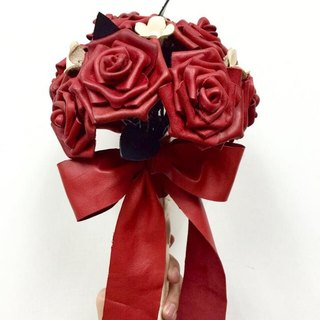 Leather red roses Wedding Flowers