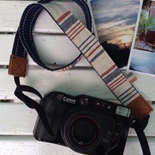 [Clare cloth hand-made]*limited edition*French travel style camera strap